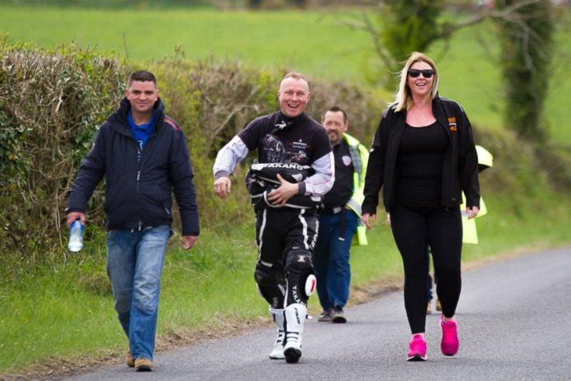 At the Tandragee 100 Race Paddock