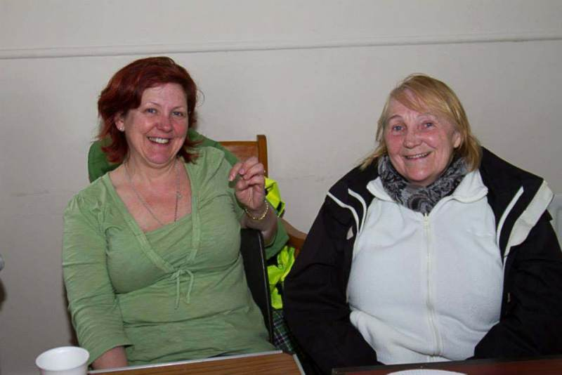 With Susan Lester and Yvonne Ward at the Tandragee 100 Race Paddock.