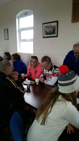 Men talking racing tactics Brian?