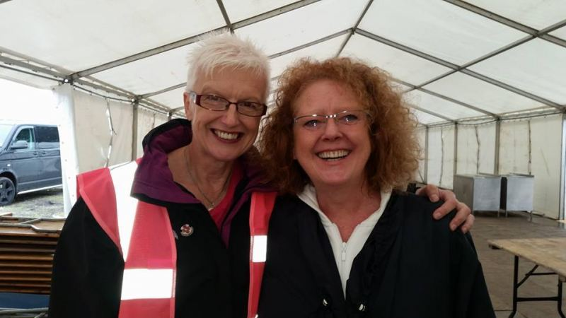 All done… Jan and Lorraine looking for chocolate!